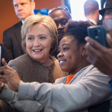 Image: Hillary Clinton Campaigns Across South Carolina One Day Before Primary