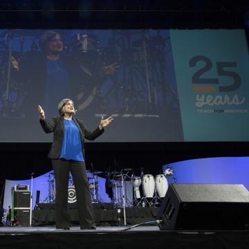 Photo of TFA CEO Elisa Villanueva at Summit