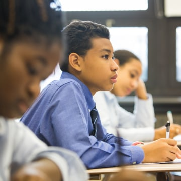 Students at Bedstuy Collegiate Charter School in Brooklyn, New York.