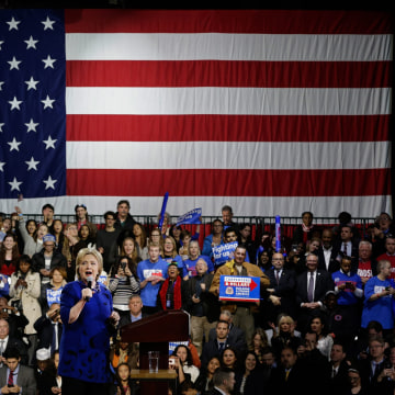 Image: Hillary Clinton rally in New York