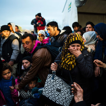 Image: Migrants in Idomeni