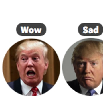 Alter 'Reaction' Buttons to Donald Trump, Pokemon, Your Own Face