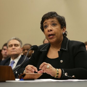 Image: Loretta Lynch Testifies At House Hearing On Justice Department Budget