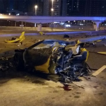 Image: Scene of Dubai crash