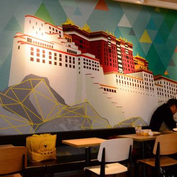 Image: Customers at KFC in Lhasa