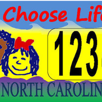 Image: North Carolina Choose Life plate