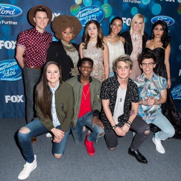 "Image: Meet Fox's ""American Idol XV"" Finalists - Arrivals"