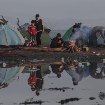 Image: Refugee camp in Idomeni, Greece