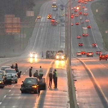 Image: N.C. freeway pileup