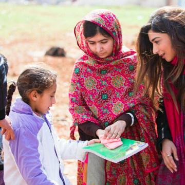 Shiza Shahid with Malala Yousafzai