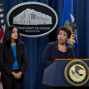 Image: Loretta Lynch, Vanita Gupta