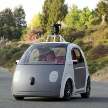 Handout photo of Google self-driving car prototype