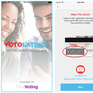 Screenshots of the VoterPal app