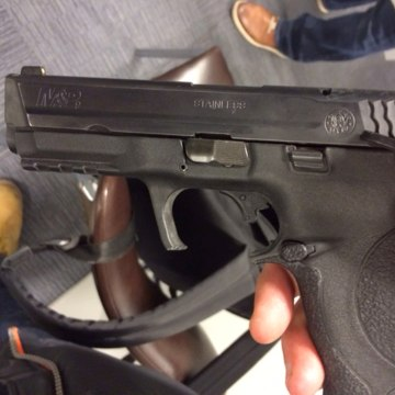 Image: This gun was recovered during the main raid in Brussels.
