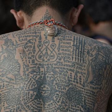 THAILAND-RELIGION-FESTIVAL-TATTOO