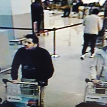 Image: The three men considered suspects by Belgian authorities