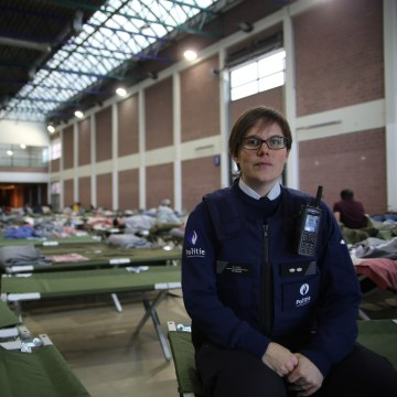 Image: Stephanie Gille, press officer for the local Leuven police