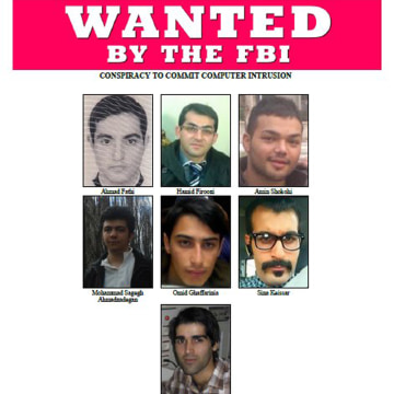 Image: 7 Iranians wanted and indicted for cyber attacks in NY dam