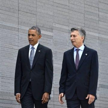 Image: ARGENTINA-US-OBAMA-MACRI-DIRTY WAR