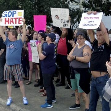 Image: Protest in North Carolina