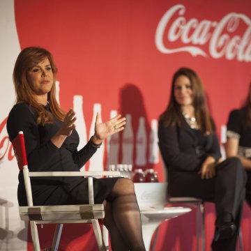 Image: Al Rojo Vivo's María Celeste, left, speaking at Hispanicize Event 2015