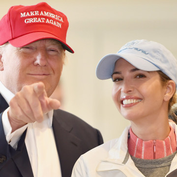 Image: Republican Presidential Candidate Donald Trump with Ivanka Trump