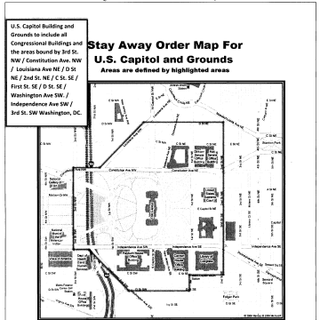 Image: A court ordered Larry Dawson in October 2015 to stay away from the U.S. Capitol building and its surrounding grounds.