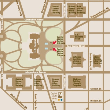 Image: U.S. Capitol Visitors Center map