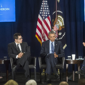 Image: Obama attends panel discussion at National Rx Drug Abuse Summit
