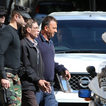 Image: Seif Eldin Mustafa leaves court