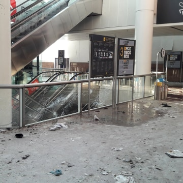 Image: Damage is seen inside the departure terminal following the March 22, 2016 bombing at Zaventem Airport, in these photos made available to Reuters by the Belgian newspaper Het Nieuwsblad