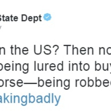IMAGE: Deleted State Department tweet