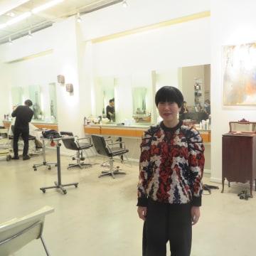 Seunghyun Suh at her salon, Kakaboka in New York City.