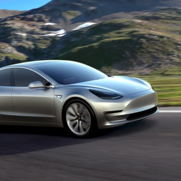 Image: A Tesla Motors mass-market Model 3 electric car