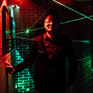 Image: Kevin Huang, a co-founder of OMESCAPE on West 38th Street in NYC poses for a portrait inside one of the rooms clients try to escape from on Friday, March 25, 2016.