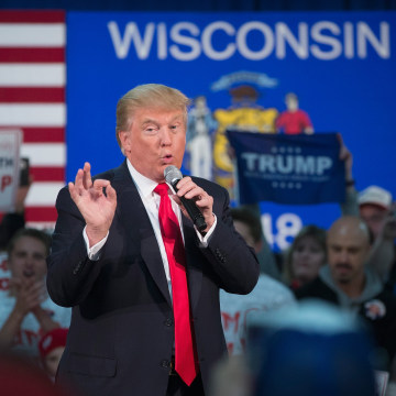Image: Donald Trump Holds Town Hall In Wisconsin Ahead Of State Primary