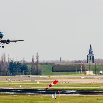 Image: A Brussels Airlines plane takes off at Brussels Airport, in Zaventem, Belgium, Sunday, April 3, 2016.