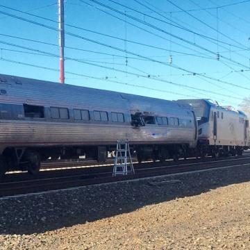 Image: Train accident Amtrak Chester Pennsylvania