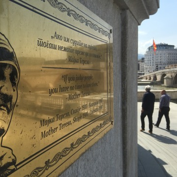 Image: A plaque for Mother Teresa