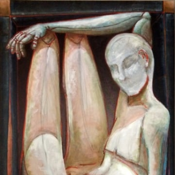 "Ricardo Mulero's ""Man-In-The-Box"" - oil on canvas."