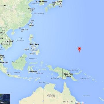 Image: Map showing Chuuk