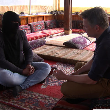 Image: Alleged ISIS defector and Richard Engel
