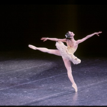 Lourdes Lopez in Divertimento No. 15. Choreography by George Balanchine.