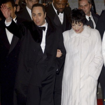 Image: File photograph of Liza Minnelli and David Gest arriving for their wedding reception in New York