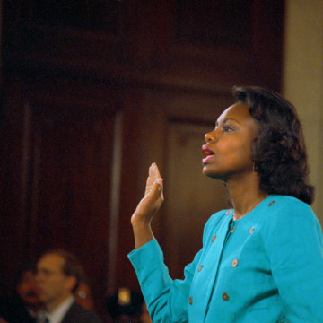 Lawyer Anita Hill Before Testifying at Senate Judiciary Hearing