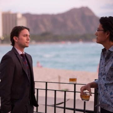 "A still from ""Pali Road,"" a romantic thriller shot in Hawaii and scheduled to appear in U.S. theaters April 28 and 29."