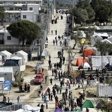 Image: Moria migrant camp