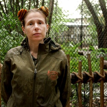 Image: Stacey Konwiser, a zookeeper at the Palm Beach Zoo