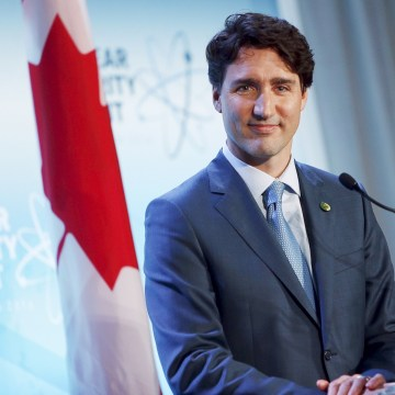 Image: File photo of Trudeau holding a news conference at the conclusion of the Nuclear Security Summit in Washington