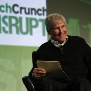Bill Campbell, chairman of the board and former CEO of Intuit Inc., speaks during TechCrunch Disrupt SF 2012 in San Francisco